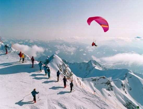 Extreme Paragliding Skiing
